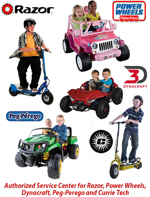 Service Center for Razor, Power Wheels, Dynacraft, Peg-Perego and Currie tech